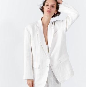 NWT, ZARA Oversized Linen Jacket